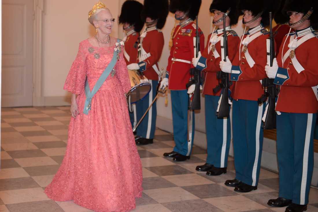 Drottning Margrethe var värdinna för kvällens galamiddag.
