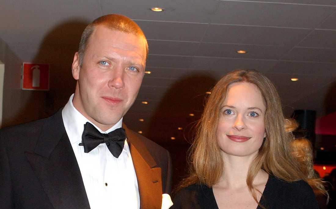 Mikael Persbrandt och Maria Bonnevie i januari 2005.