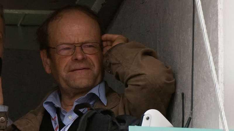 Under gårdagens möte mellan AIK och Gefle kommenterade Mats Strandberg Radiosportens webbsändning från Råsundaläktaren. (Bilden ovan är från ett annat tillfälle).