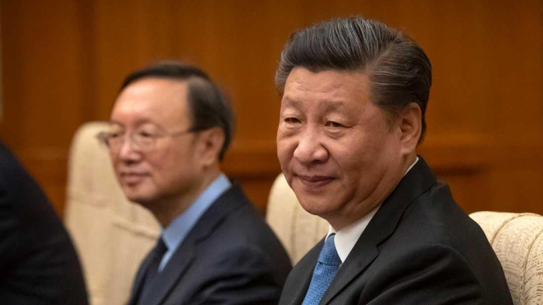 Kinas president Xi Jinping (till höger). Arkivbild.