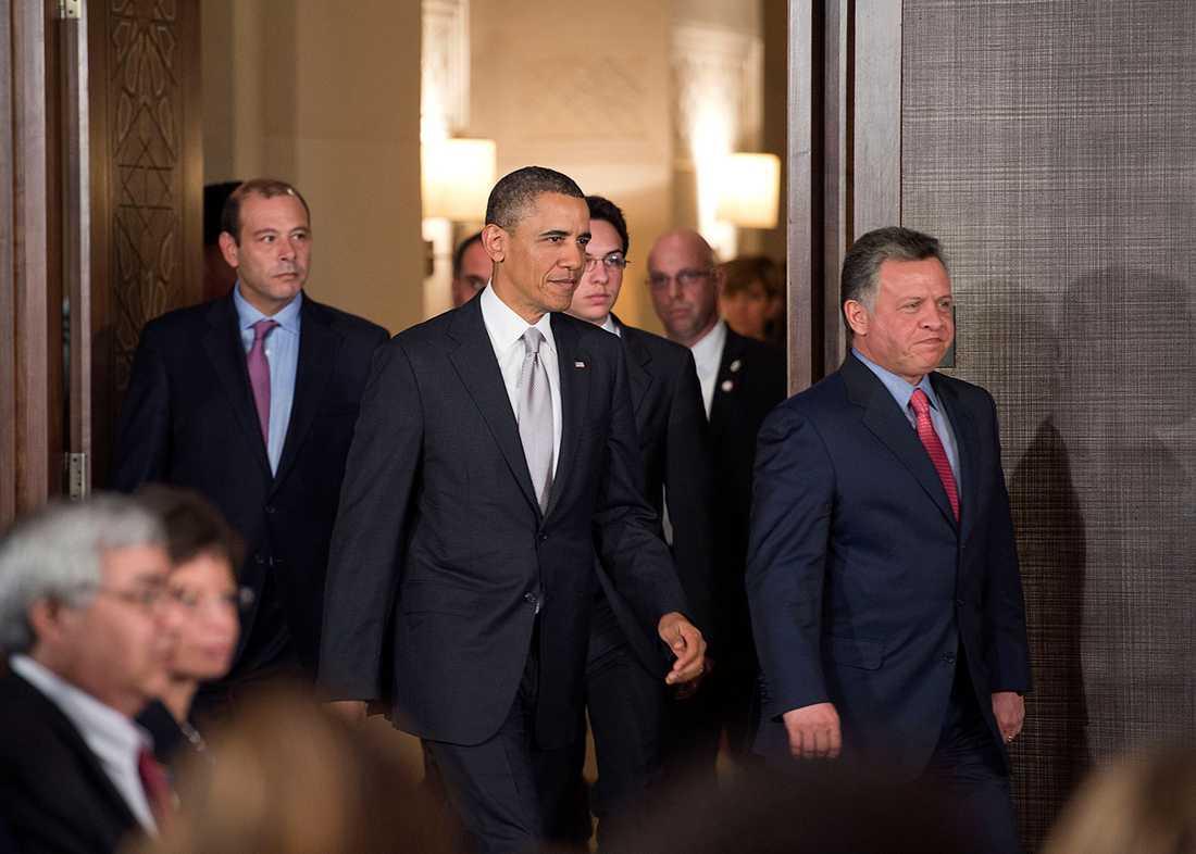 Presidenten och kung Abdullah.