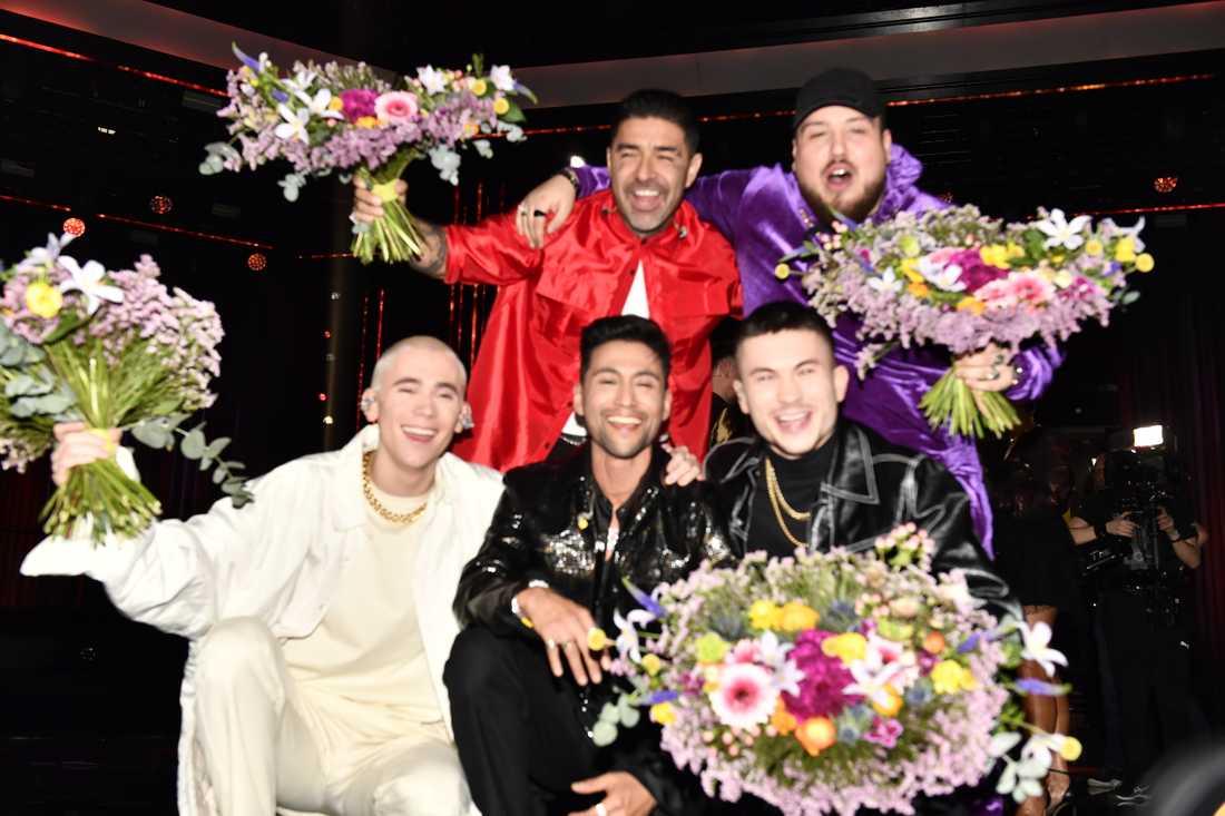 Mendez, Anis Don Demina, Felix Sandman, Alvaro Estrella och Paul Rey går vidare till final från Andra chansen i Melodifestivalen.