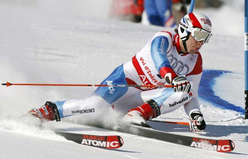 Carlo Janka på väg mot guld.