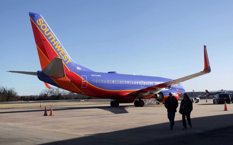Boeing 737-planet landade av misstag på M Graham Clark Downtown Airport i Hollister, Missouri.
