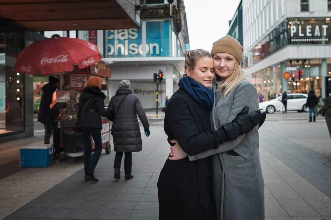 """""""Jag minns bara Kristinas gröna ögon, av alla de som bar mig"""", säger Iryna."""