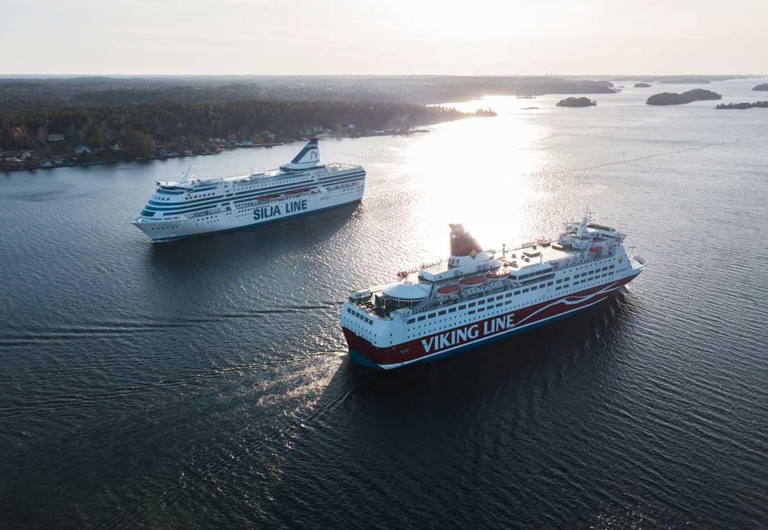 Färjetrafiken mellan Finland och Sverige drabbas hårt av den utvidgade finländska postkonflikten. Arkivbild.