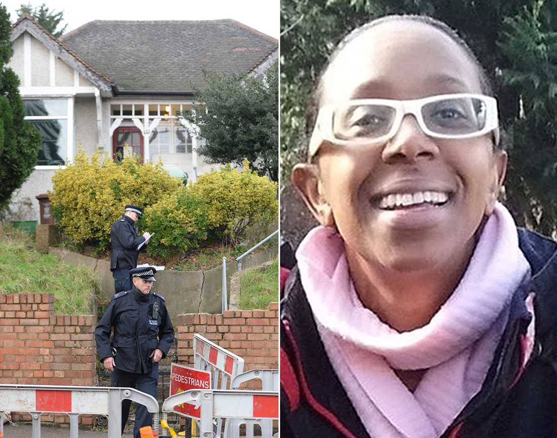 Polis undersöker Sian Blakes hus.
