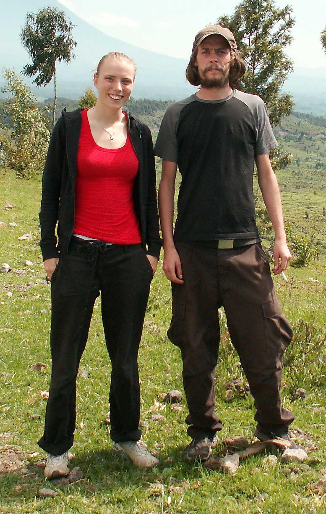 Skribenten Anna Roxvall med Johan Persson.