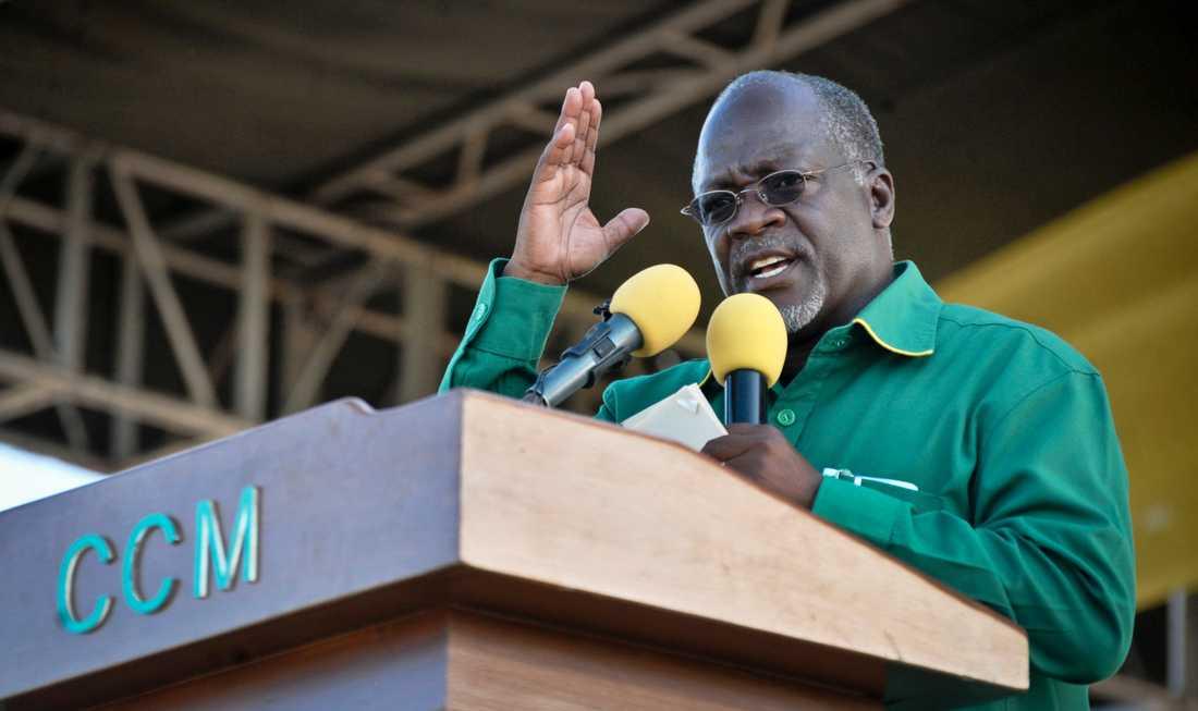 Tanzanias president presidenten John Magufulis och hans regering har anklagats för att tysta avvikande åsikter och trakassera politiska motståndare. Arkivbild.