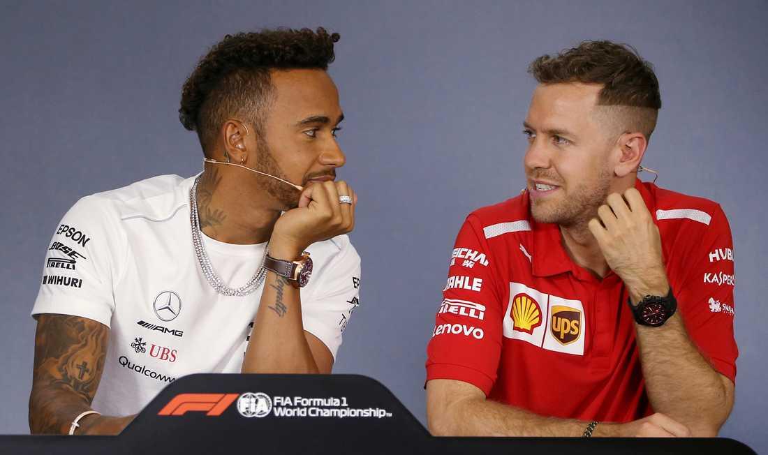 Lewis Hamilton och Sebastian Vettel.