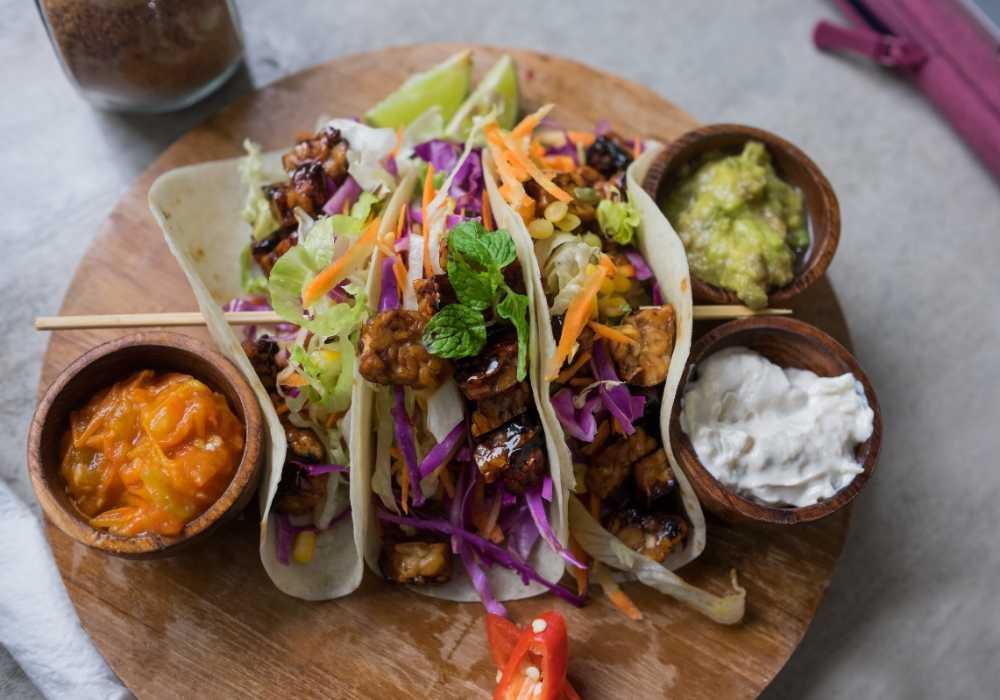 Tacos med tofu.