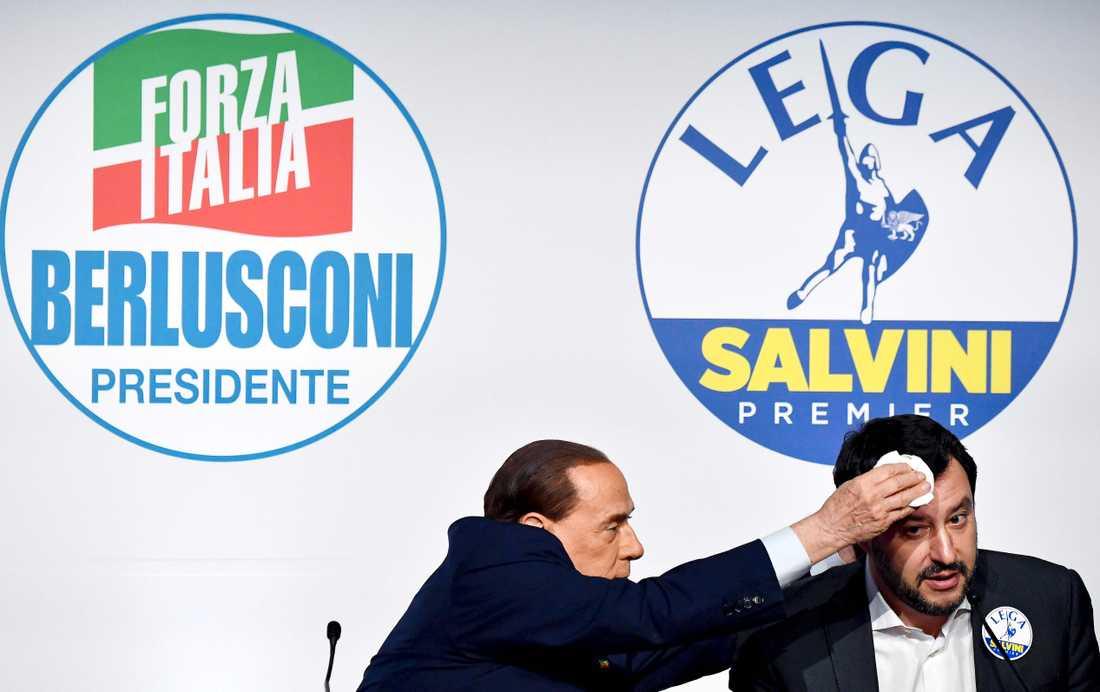 Silvio Berlusconi och Matteo Salvini