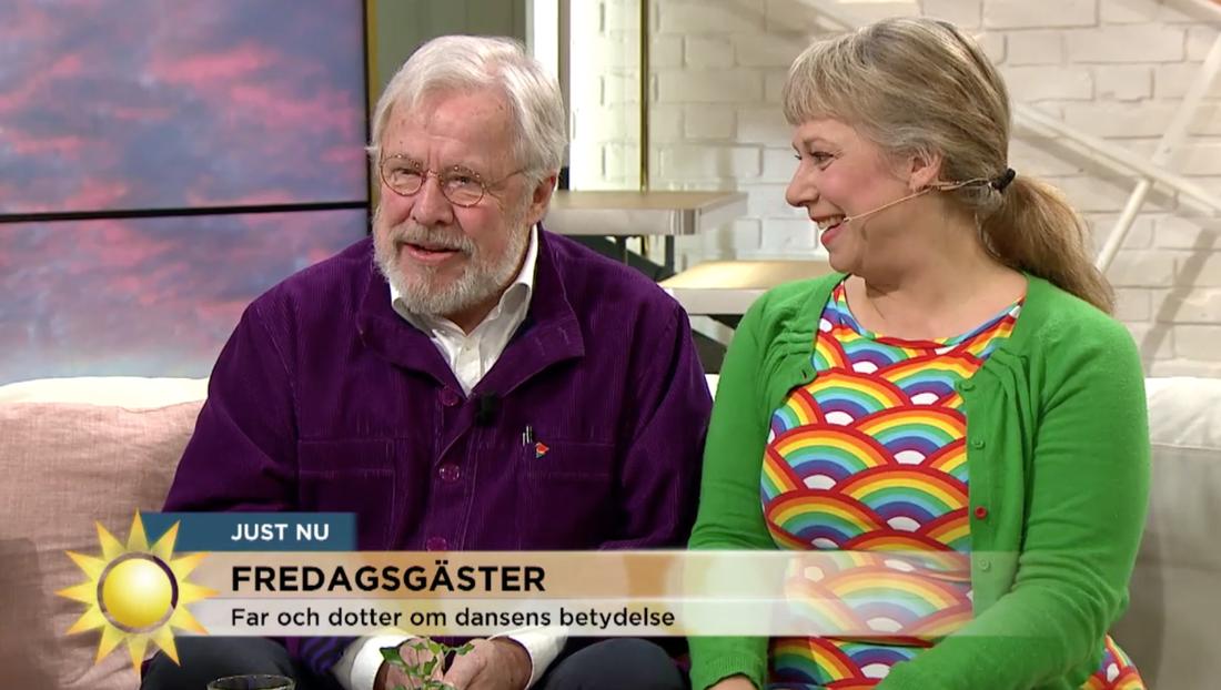 Sven och Stina Wollter i Nyhetsmorgon.