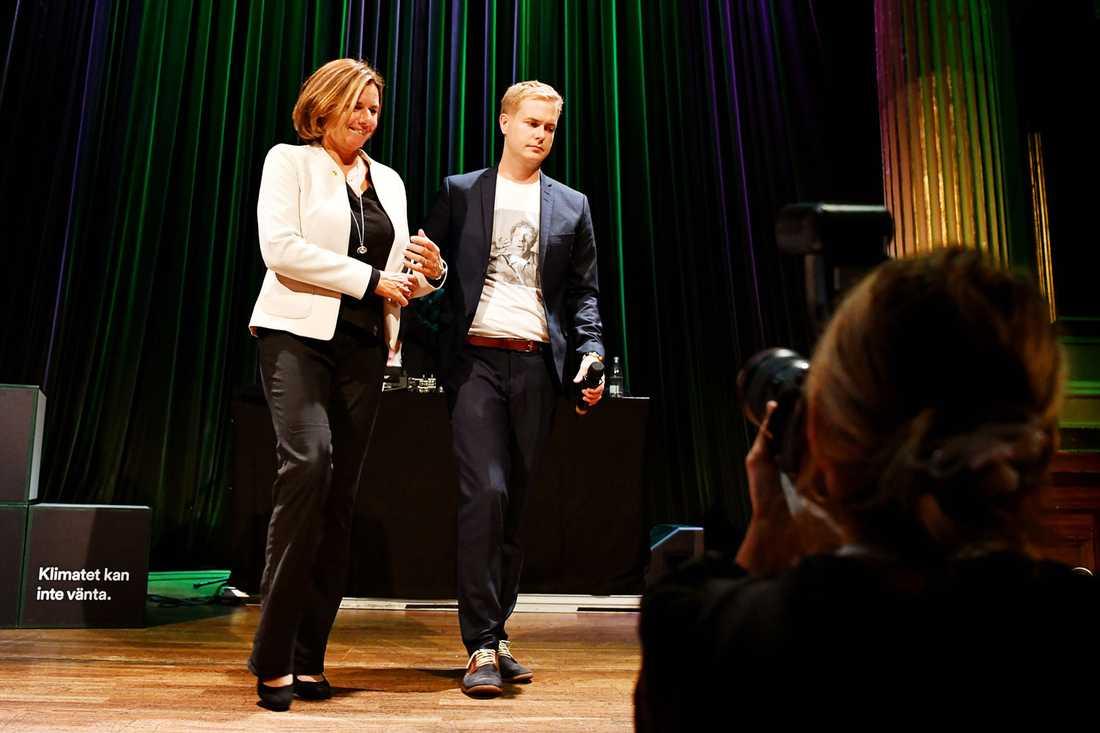 Isabella Lövin och Gustav Fridolin är nuvarande språkrör för Miljöpartiet.