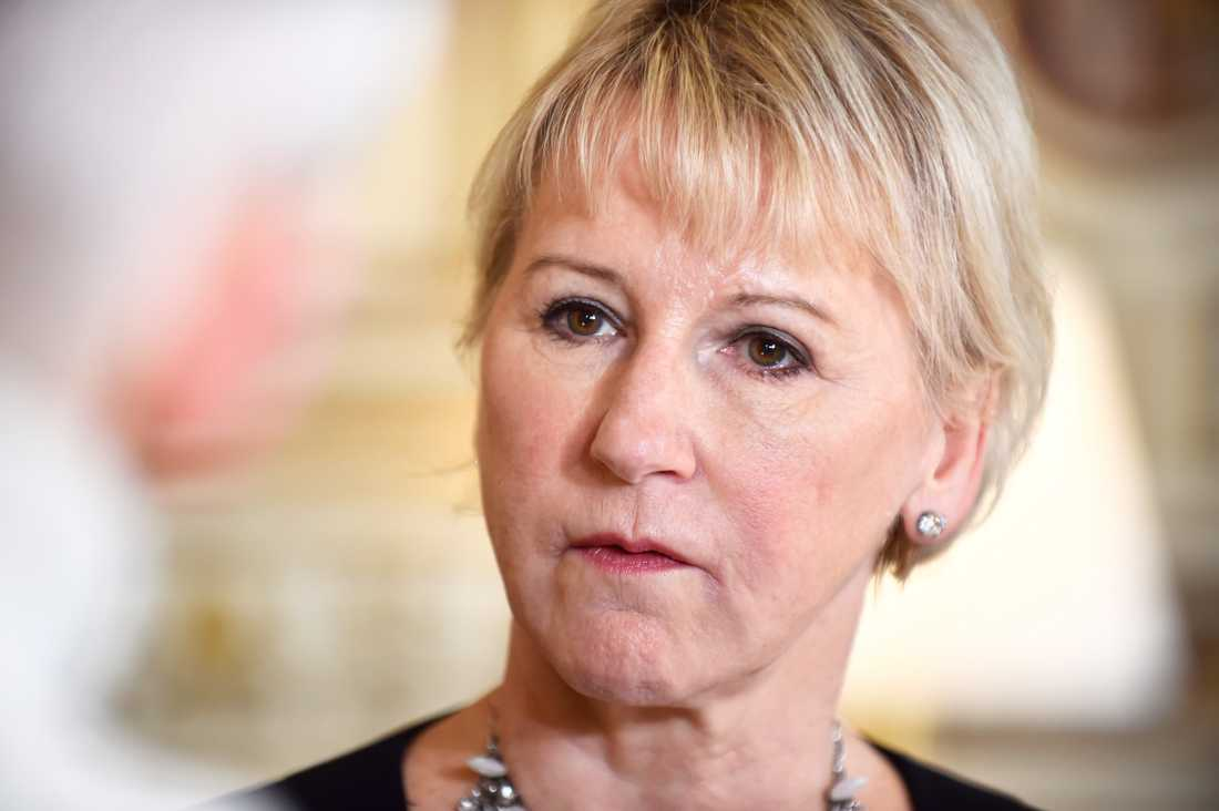"""""""Det är välförtjänt och det är på tiden"""" sade utrikesminister Margot Wallström (S) då den internationella kampanjen för att avskaffa kärnvapen, ICAN, tilldelades Nobels fredspris 2017."""