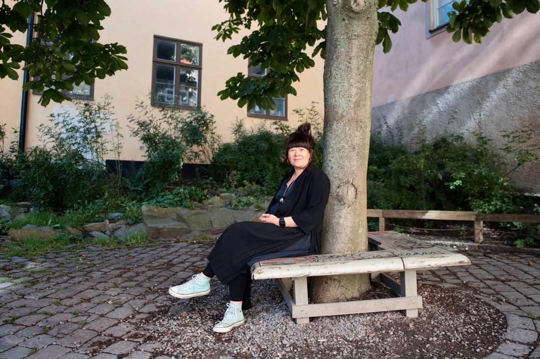 """Patricia Fjellgren, som vill sprida kunskap om samiska språk med så kallad """"språkcirkus""""."""