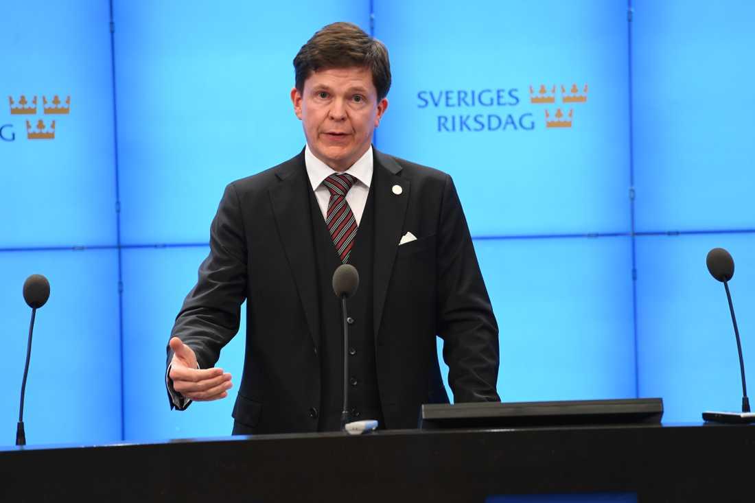 Riksdagens talman Andreas Norlén.