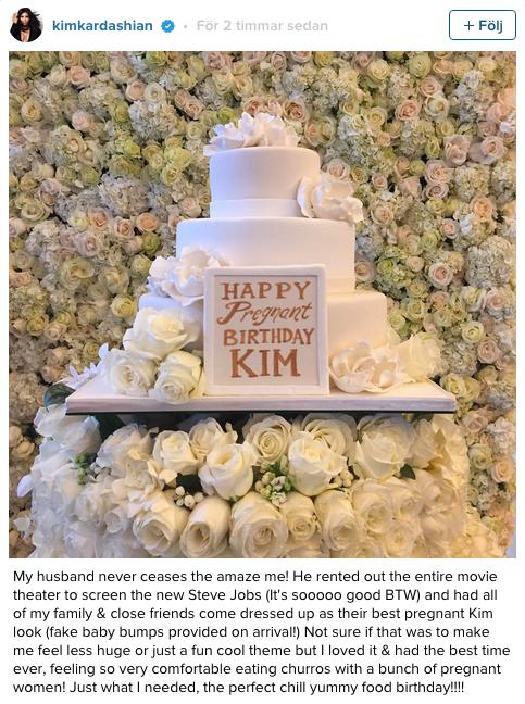 Kim Kardashians tårt-foto på Instagram