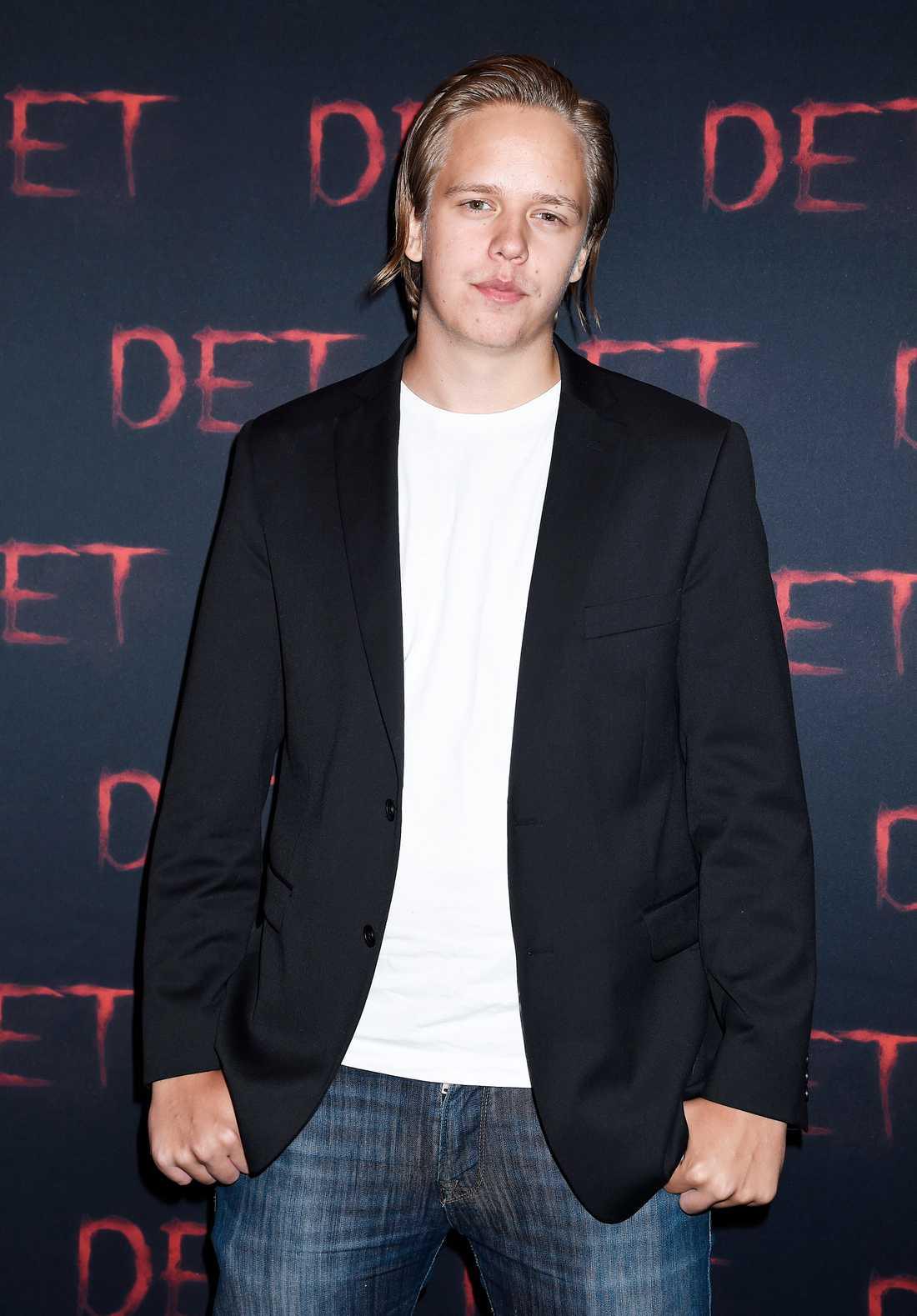 """Valter Skarsgård kom för att se storebror Bill i rollen som skräckclownen Pennywise i Stephen King-filmen """"Det""""."""