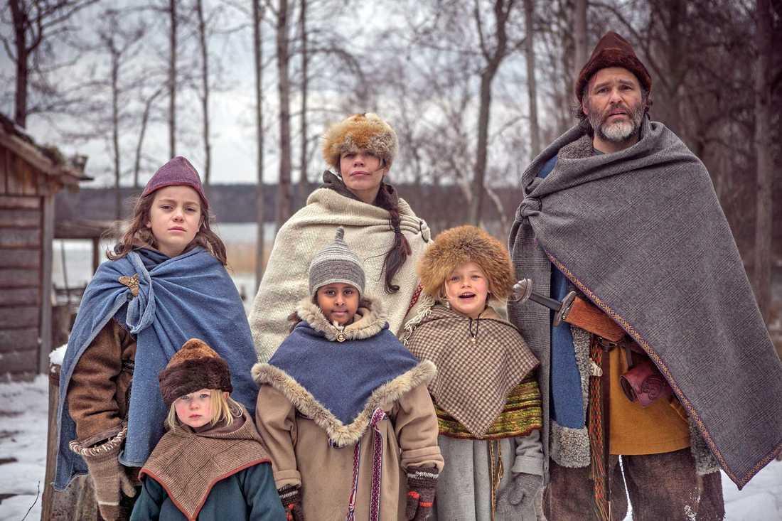 """Scen ur julkalendern """"Tusen år till julafton"""" 2015."""
