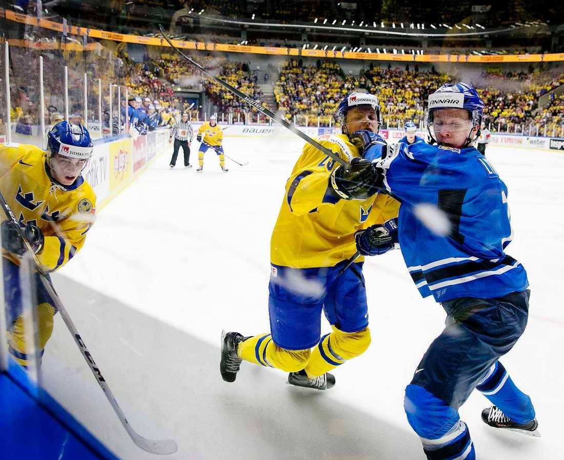 TUFFT  Senast Sverige och Finland möttes i JVM var finalen i januari 2014 i Malmö. Då vann Finland guldet efter att ha avgjort i sudden death.
