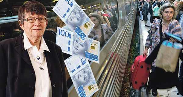 SPF Seniorerna anser att SJ:s nya avgift på 100 kronor och kravet på mobilt bank-id för biljettköp på webben är negativt för många äldre, som redan sen tidigare har en tuff ekonomisk situation, skriver Christina Rogestam.