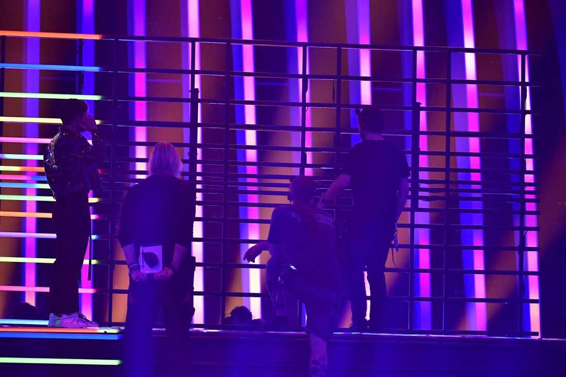 Benjamin Ingrossos genrep stoppades på grund av ett tekniskt haveri