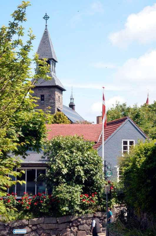 Idylliska Gudhjem på Bornholm.