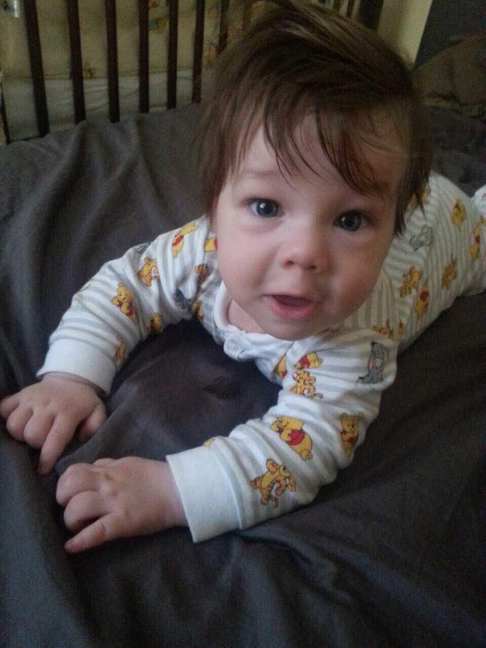 """""""Min son här på bilden när han är fyra månader""""' säger Ramiz Babayev från Tumba."""