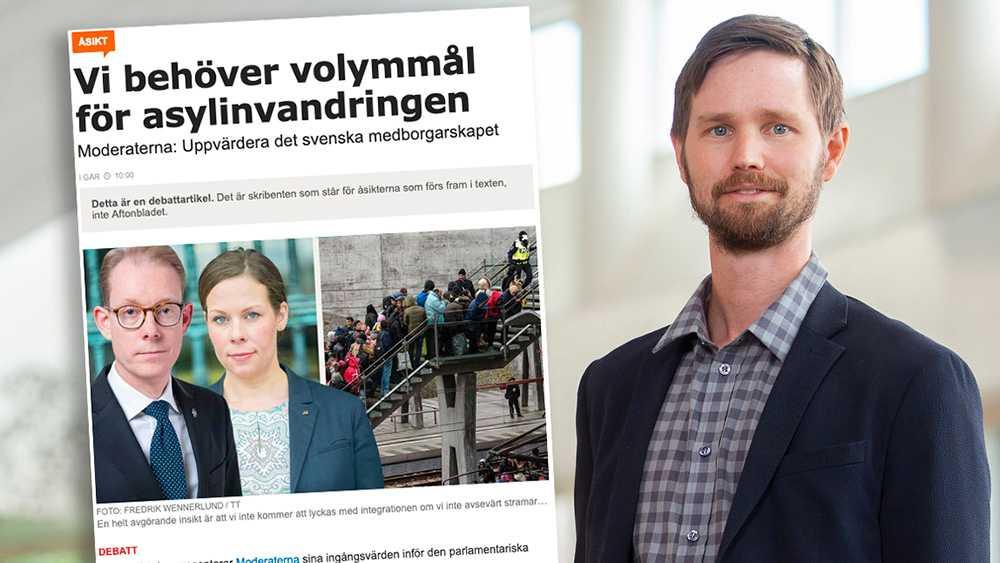 Genom en rad åtgärder ska människor som befinner sig på flykt från krig avskräckas från att komma till Sverige. Cyniskt och högerpopulistiskt är bara förnamnet på detta utspel från Moderaterna, vars politik allt mer liknar Sverigedemokraternas, skriver Rasmus Ling, migrationspolitisk talesperson (MP).