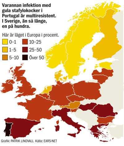 Läget värst i Portugal.
