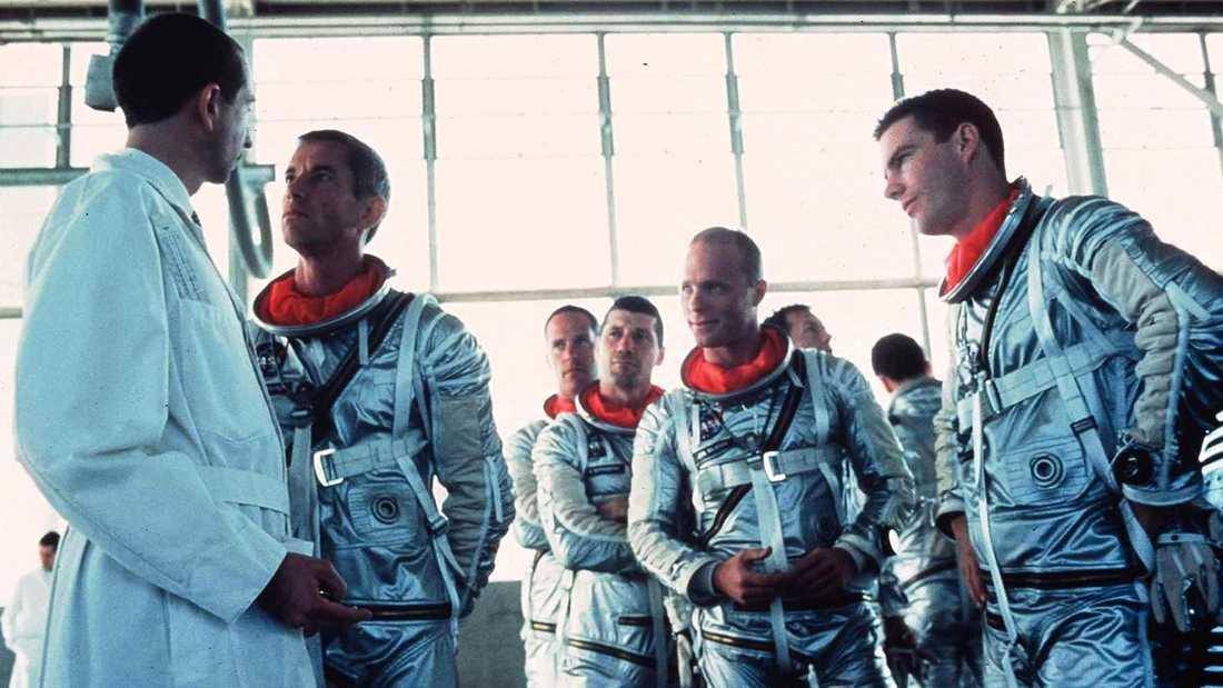 """Ur filmen """"Det rätta virket"""", med bland annat Scott Glenn, Ed Harris och Dennis Quaid."""