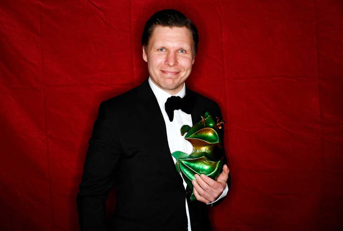 """Eero Mllonof fick priset för bästa manliga biroll i filmen """"Gräns""""."""