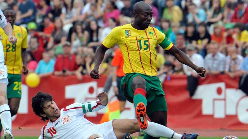 Achille Webos Kamerun stod inte för någon större insats mot Georgien.