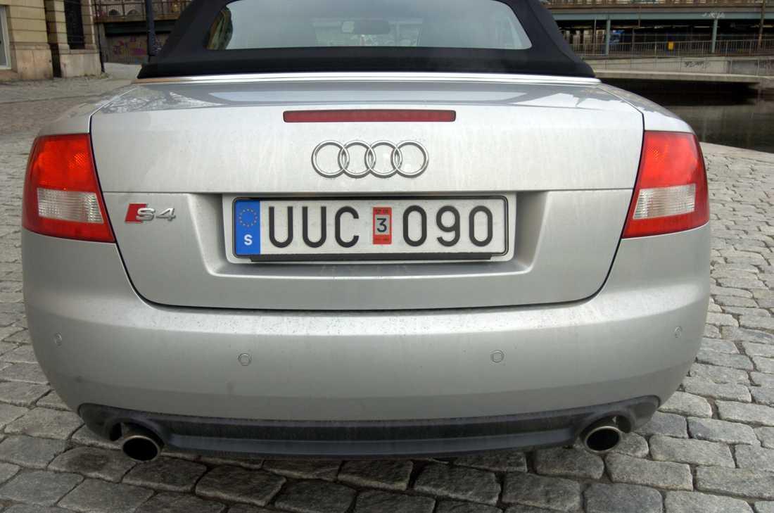 Från och med den 16 januari kommer registreringsskyltar för nya fordon att se annorlunda ut jämfört med i dag. Arkivbild.