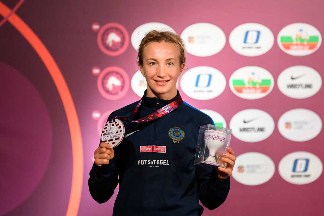 Sofia Mattsson tog EM-brons i 55-kilosklassen i Rom.