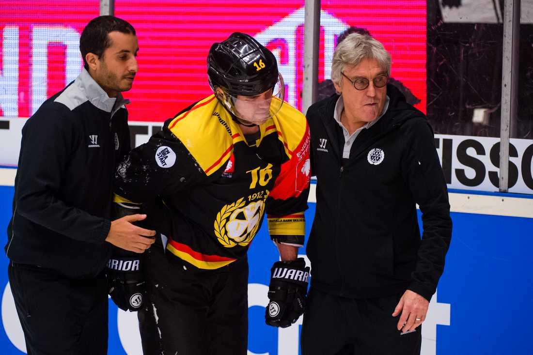 Daniel Paille skadades efter en tackling under Brynäs-Adler Mannheim i november 2017.
