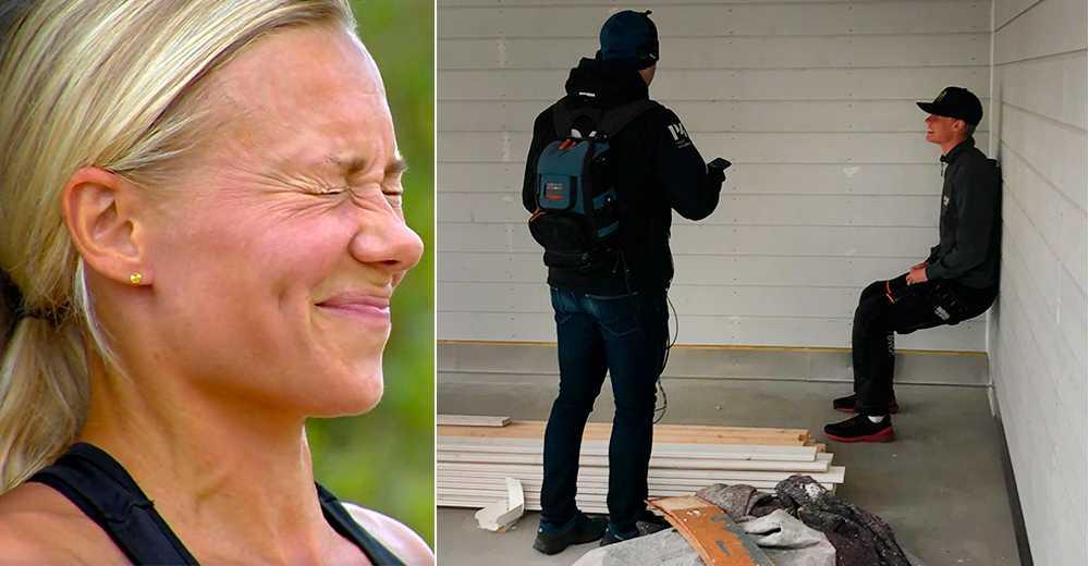 """Lukas Norrman, till höger, satt i jägarvila i 71 minuter. Frida Hansdotter satt i 26 minuter i SVT:s """"Mästarnas mästare""""."""