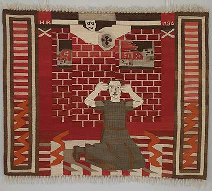 """Hannah Ryggen (1894–1970) anses vara en av de stora 1900-talsskildrarna. Här """"Gru"""", 1936."""