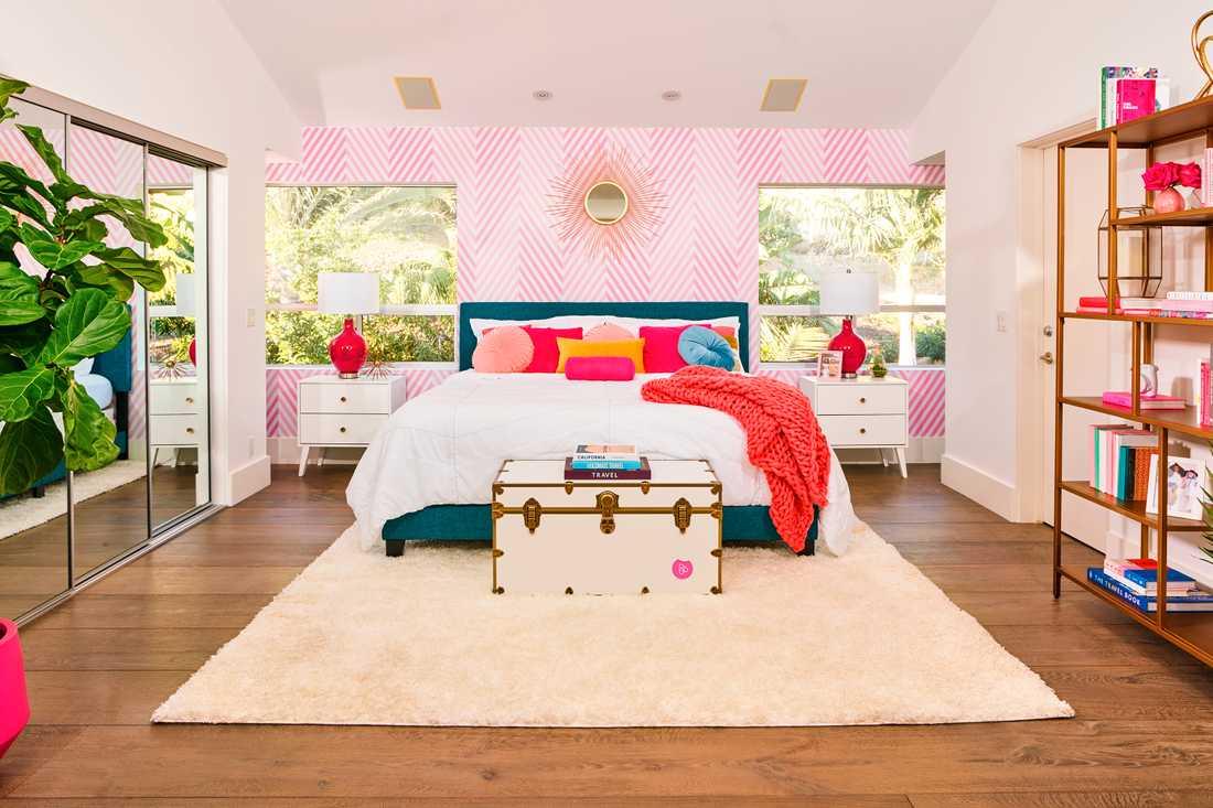 I huset finns plats för fyra personer i två sovrum.