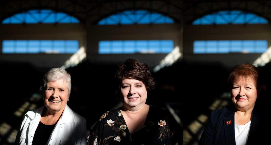 Republikanerna Barbara Burkard, Lori Viars och Linda Burke som jobbar lokalt åt partiet i Ohio.