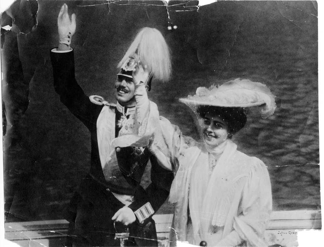 I maj 1920 dog Sveriges kronprinsessa Margareta. Här syns hon några år tidigare tillsammans med maken, den blivande kung Gustav VI Adolf. Arkivbild.