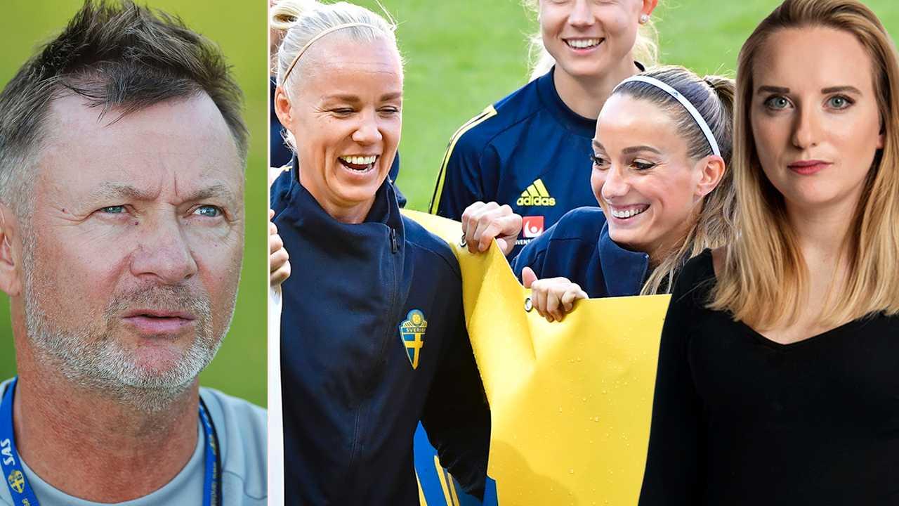 Peter Gerhardsson, Caroline Seger och Kosovare Asllani inleder jakten på OS-medalj mot USA.