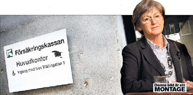 Försäkringskassan vet varken ut eller in, inte heller socialförsäkringsminister Cristina Husmark Pehrsson.