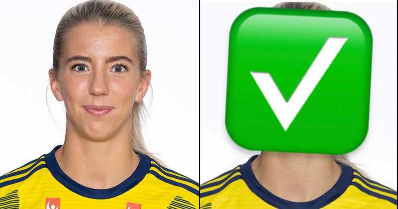 Bildbyråns bild på Wilma Öhman och Kif Örebros Insta-inlägg.