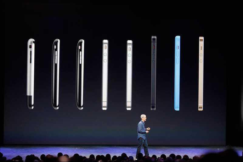 Från första Iphone till i dag. Så olika stora är de.