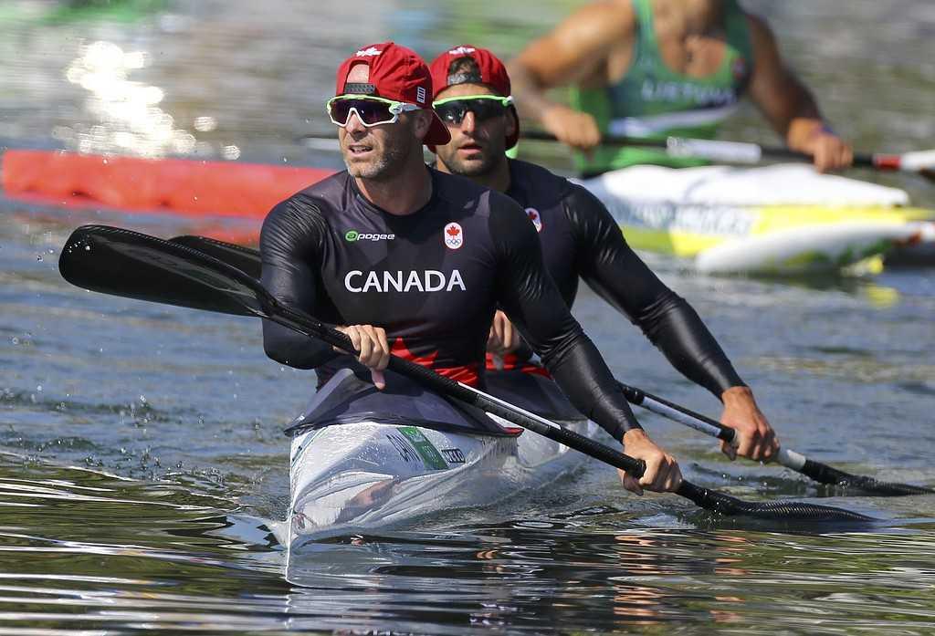 Hugues Fournel tillsammans med sin tävlingspartner Ryan Cochrane