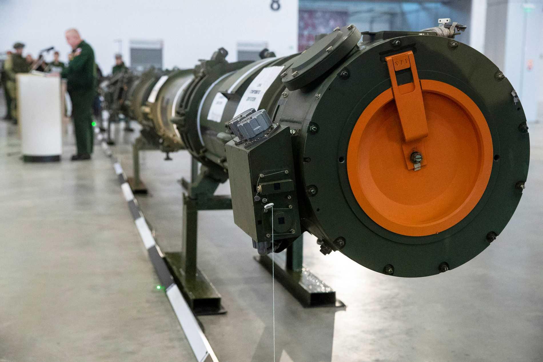 En rysk kryssningsrobot visas upp under 2019.