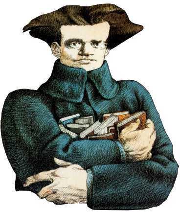 Antonio Gramsci. Teckning: TULLIO PERICOLI