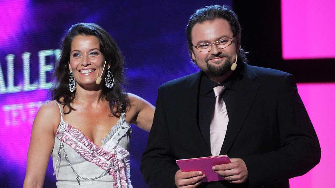 Agneta Sjödin och Adam Alsing.